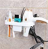 Bing Bianco Free-Drilling Asciugacapelli Mensola da bagno 28 * 11.4cm