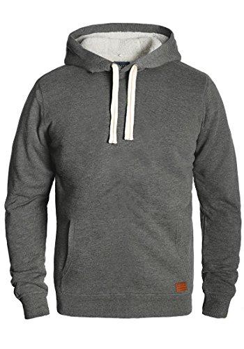 Blend Tedy Herren Winter Pullover Kapuzenpullover Hoodie Sweatshirt mit Teddy-Futter, Größe:M, Farbe:Pewter Mix (70817)