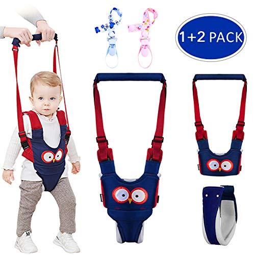 Gvoo lauflernhilfe Gehhilfe für Baby Stehen Gehen Lernen Helfer Walker Sicherheitsleinen für Kinder 6-27 Monthe,4 in 1 Funktionale mit zwei Schnullerkettten