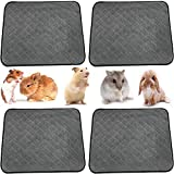 4 Packs Guinea Pig Bedding Guinea Pig Fleece Cage Liners, Hamster Bedding Pee Pad Holder for Small Animal Bedding Rat Bedding Washable, Rabbit Bedding Also Puppy Pads Puppy Blankets for Small Dogs