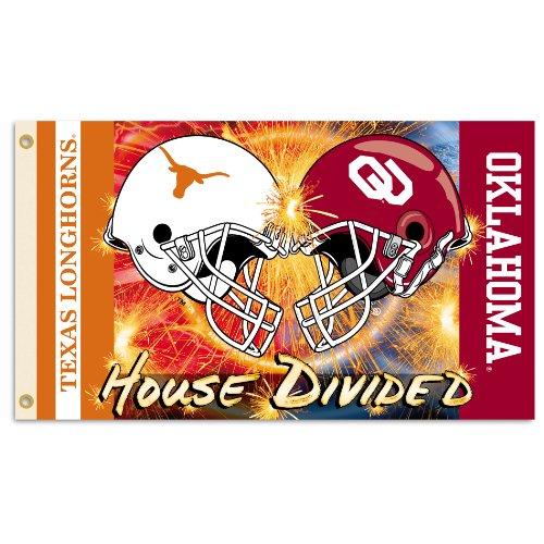 NCAA Texas Longhorns vs. Oklahoma Sooners 3-by-5 Foot Helmet Flag With Grommets