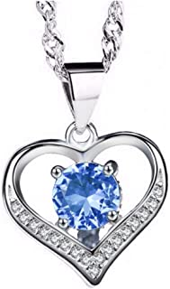 Heart Pendant Necklace | Cubic Zirconia 18K White Gold...
