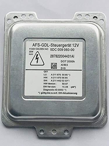 Xenon Vorschaltgerät Scheinwerfer Steuergerät Ersatz für 5DC009060-00 Compatible W211 S211 AFS-GDL Ballast
