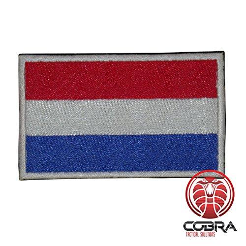 Cobra Tactical Solutions Flagge Niederlande Holland Nederland Military Besticktes Patch mit Klettverschluss für Airsoft Cosplay Paintball für Taktische Kleidung Rucksack