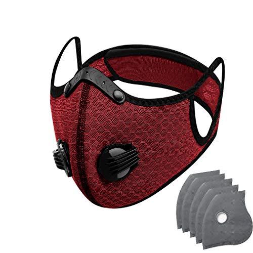 Unisex, lavable y reutilizable tela no tejida moda protección facial (rojo)