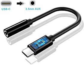 MAS CARNEY USB Type C to 3.5mm Female Aux Adapter, 384KHz 24bit Hi-Res Audio Headphones Jack, Compatible with Huawei Google Pixel Mi Moto Z iPad Pro MacBook etc Android/iOS/Win10 USB Type C Device