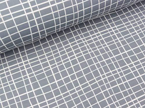 Albstoffe Shield PRO Jersey Grid grau-weiß