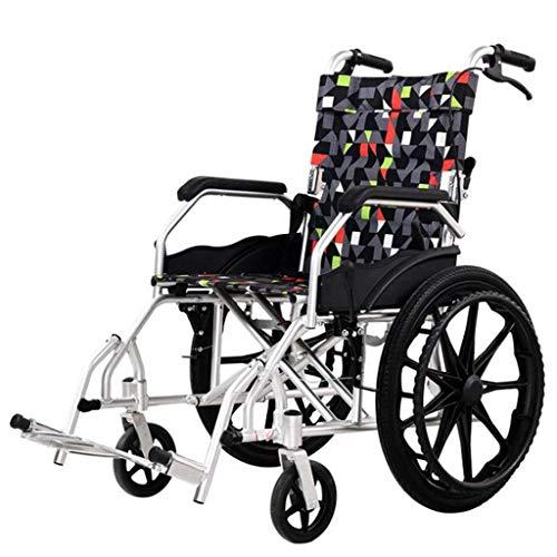L-Y lichtgewicht luxe opvouwbare doorreis eenvoudig voor de oudere rolstoel in een tas met opvouwbare dubbele rem