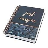 SIGEL JN603 Libreta espiral premium, 16.2 x 21.5 cm, punteado, tapa dura, 240 páginas, azul/negro