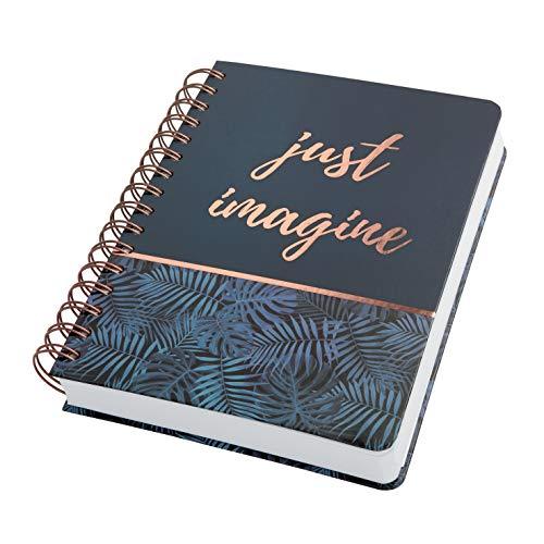 SIGEL JN603 Spiralblock Notizblock Bullet Journal Jolie, ca. A5, dot-Lineatur, 240 Seiten, blau/schwarz, für Frauen und Mädchen - weitere Modelle