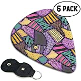 Sally Ragdoll Coffret-cadeau Médiators Scraps (Paquet de 6 comprend Thin Medium Heavy) avec support en cuir...