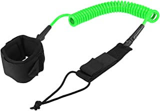 Docooler 10FT Surf Coiled Leash Surfboard Legrope Smooth Steel Swivel Surfing Leg Rope SUP Paddleboard Leash