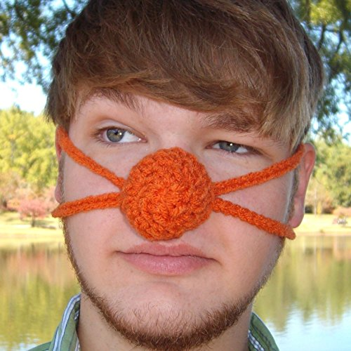 Orange You Glad Your Nose Is Warm Orange Nose Warmer by Aunt Marty Vegan Gift