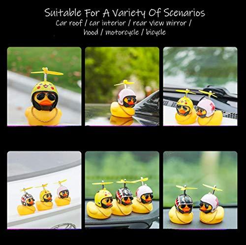 BSGP Auto-Dekoration, kreativ, niedlich, mit Helm, kleine gelbe Ente, Puppe, Auto-Zubehör für Auto, Innendekoration, Fahrräder, Motorräder, Kindergeschenk (Hai) - 3