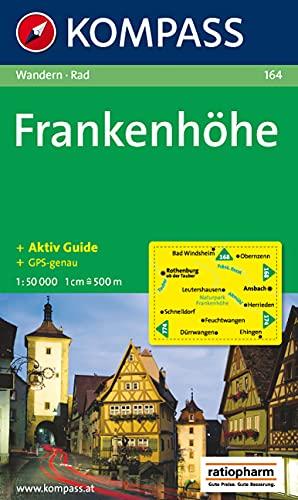 Frankenhöhe: Wanderkarte mit Kurzführer und Radrouten. GPS-genau. 1:50000 (KOMPASS-Wanderkarten, Band 164)