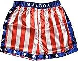 Rocky Balboa Herren Shorts Apollo Movie Boxen Amerikanische Flagge Gr. XL, mehrfarbig