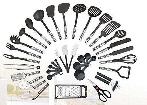 38-piece Kitchen Utensils Set Home Cooking Tools Gadgets Turners Tongs Spatulas Pizza Cutter Whisk...