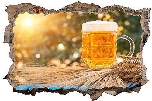 Bierkrug Bier Sonne Wandtattoo Wandsticker Wandaufkleber D1326 Größe 60 cm x 90 cm
