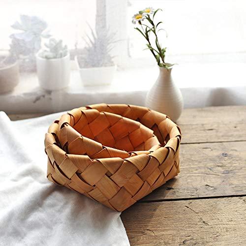 Boîte De Rangement Panier De Rangement Tissé Panier De Rangement En Osier Nordic Ins Wind Fruit Basket