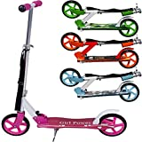 Trottinette pliable design 'GIRL POWER' roues XXL avec sangle incluse
