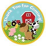Adorebynat Party Decorations - EU Animales de granja le agradecen etiqueta engomada - muchacha del muchacho de cumpleaños del bebé Fiesta de la ducha - Set 30