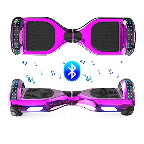 FUNDOT Hoverboards,Hoverboards for kids,Self balancing scooter 6.5 inch,Hoverboards with beautiful LED lights,Hoverboards with Bluetooth speaker,Gift for Children