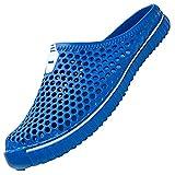 SAGUARO Unisex Sandalias de Playa Ahueca hacia Fuera Las Zapatillas Verano Ligeros Respirable Zapatos de Interior Exterior del Deslizador,Etiqueta 42=41 EU Azul Profundo