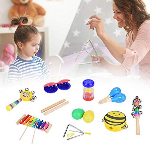 Wosune Juguetes Musicales, Palo de Ritmo Instrumentos Musicales para niños pequeños Malakas de Madera para Instrumentos Musicales para Juguetes de educación temprana