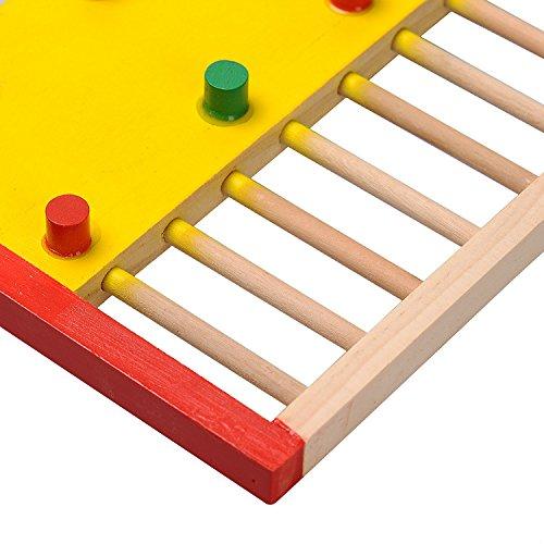 Kleintier Aktivität Spielzeug Aktivität Hamster Turnhalle Rutsche aus Holz - 6