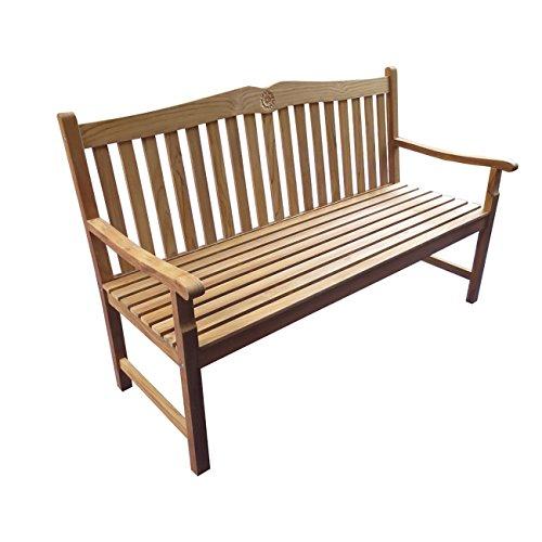 Gartenbank Holz Teak OUTLIV. Tulip Holzbank massiv 3-Sitzer 150 cm Sitzbank Garten