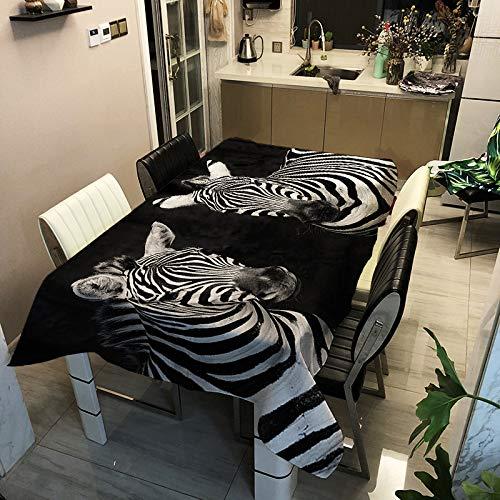 SHANGZHAI Polyester Bedruckte Tischdecke, Digitale Tischdecke, Home Fashion Tischdecke, Zebra Serie ZB2083-12 140x140cm