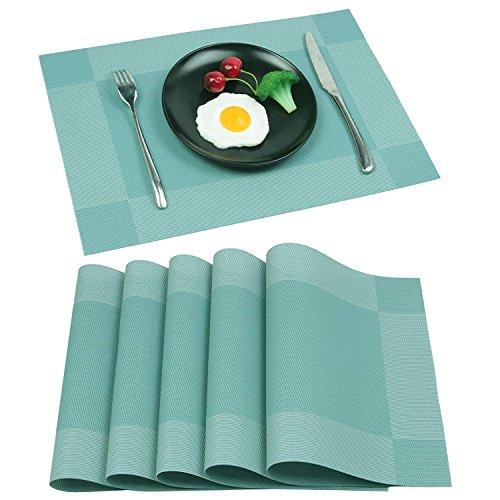 Homcomodar Platzsets Abwaschbar Hitzebeständig Tischsets rutschfest Schmutzabweisend Platzdeckchen für Küchentisch 6er Set