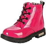 PPXID Botines de tobillo impermeables para primavera, otoño e invierno., color Rojo, talla 34 EU