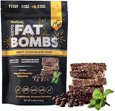 MariGold Keto Fat Bombs Snacks Mint Chocolate Chip Low Carb Collagen Rich Grass fed Ghee Organic product image