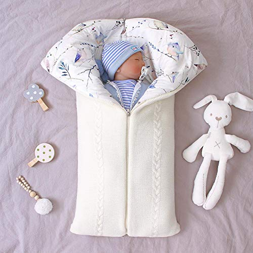 Biggystar Baby Schlafsack Weiche Dicke Warme Umschlag Reißverschluss Anti-Kick-Schlafsack Babydecke