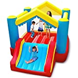 YARD Bounce House Inflatable Bouncer Jumping Bouncing House Jump Slide Dunk Playhouse w/ Blower