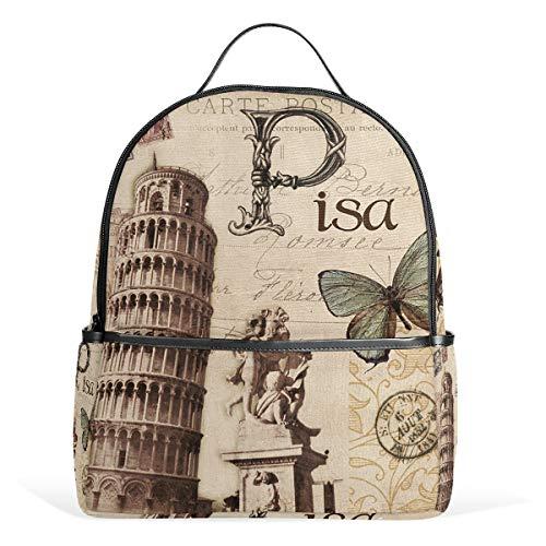 Eslifey Paris Pisa - Mochila escolar para estudiantes