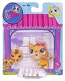 Littlest Pet Shop Figures Orange Tiger & Baby Tiger