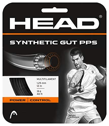 Head Synthetic Gut PPS Cordajes de Raquetas de Tenis, Unisex Adulto, Negro, 17