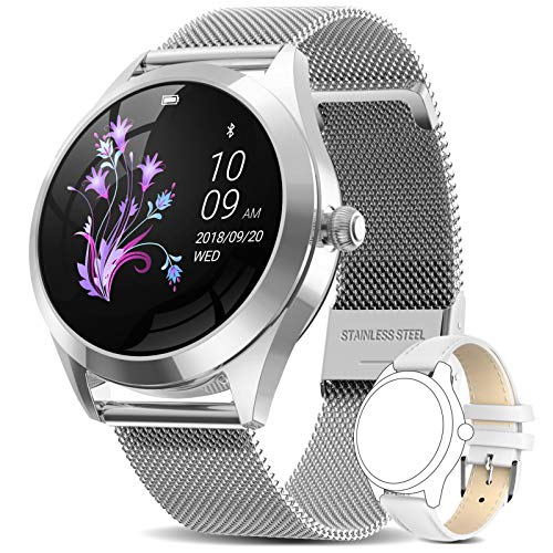 AIMIUVEI Smartwatch Donna, Orologio Fitness Impermeabile IP68 Interfaccia Utente Dinamica Contapassi Cardio frequenzimetro da Polso, Activity Tracker Notifiche Messaggi, Smart Watch Android iOS