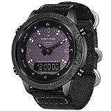 bestshop Relógios esportivos de energia solar para homens, relógio digital para esportes ao ar livre, 50 m, à prova d'água, multifuncional, militar, luz de fundo, bateria de longa duração