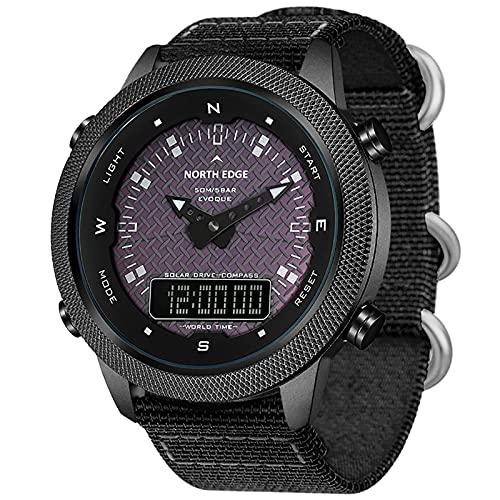 Reloj de hombre deportivo digital para hombre con despertador, calendario, luz LED, cuenta atrás, cronómetro, resistente al agua, multifunción, reloj de hombre