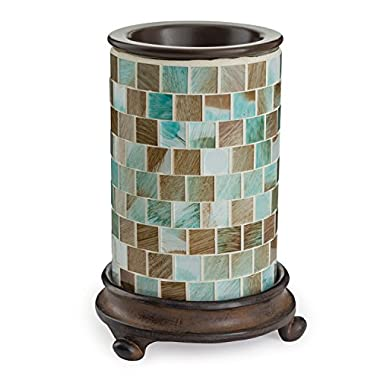 Candle Warmers Etc. Glass Illumination Fragrance Warmer, Sea Glass