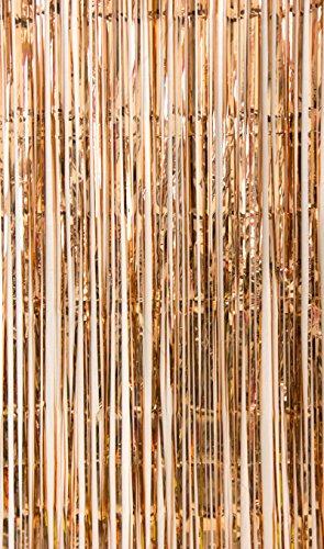 SUNBEAUTY Glitzervorhang rosé-Gold Party Dekoration 91x240cm Folie Türvorhang (Rose Gold)