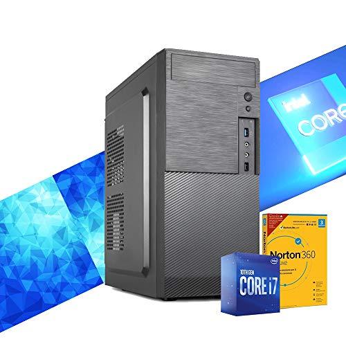 MAK OFFICE P1 - PC Desktop Intel i7 10700 8 Core 4,80GHz,SSD 500GB,RAM 16GB,CD-DVD,COMPUTER DA Ufficio Casa,Hdmi,Wifi + Bluetooth Integrato,WINDOWS 10,Pc assemblato I7 Per Commercialisti