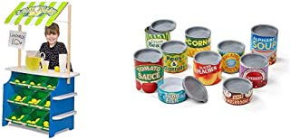 Melissa & Doug Wooden Grocery Store and Lemonade Stand & Let's Play House! Grocery Cans