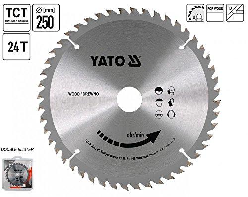 YATO YT-6070-TCT lame bois 250 x 24 x 30 mm