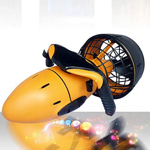 YCAXZSH Eléctrico Scooter Subacuático,Buceo Sea Pool Scooter,para Deportes Acuáticos Piscina & Buceo & Snorkel,Hélice De Doble Velocidad Naranja