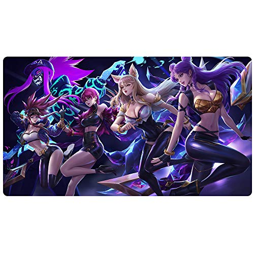 Large Gaming Mouse Pad Extended Mouse Mat Waterproof Mouse Pad with Non-Slip Rubber Base Game Mouse Mat Ideal for Desk Cover, Computer Keyboard, PC and Laptop (90x40 huligirlY48)