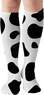 Cow Spot Nature Men and Women Compression Knee Socks High Fitness Novelty Stockings 50Cm Stylish Design